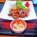 写真: 大戸屋 ( 成増 )  もろみ漬け鶏の炭火焼き定食        2016/03/19