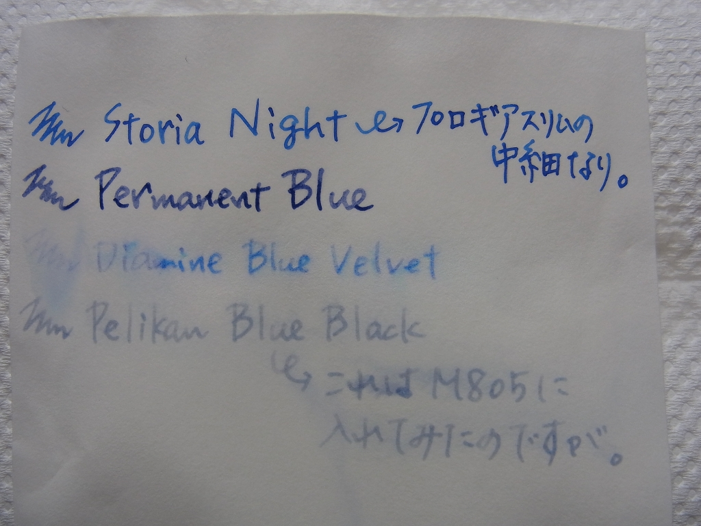 SAILOR Pigment Ink - Storia - Night Water Resistant Examination