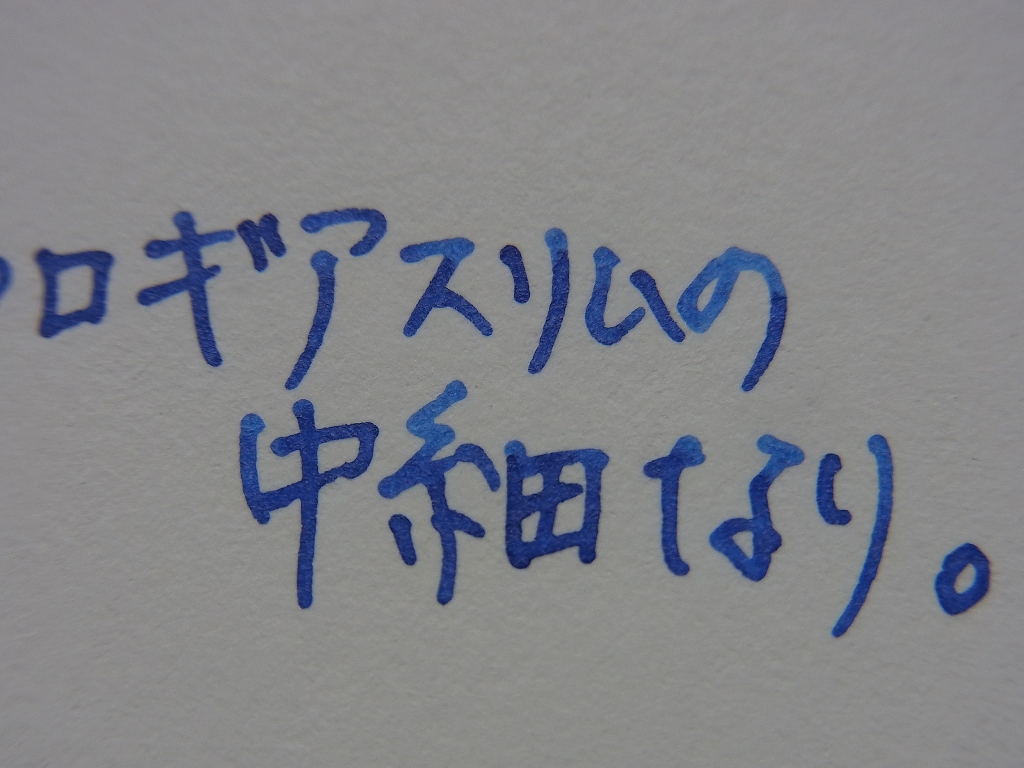 SAILOR Pigment Ink - Storia - Night handwriting (before - zoom)