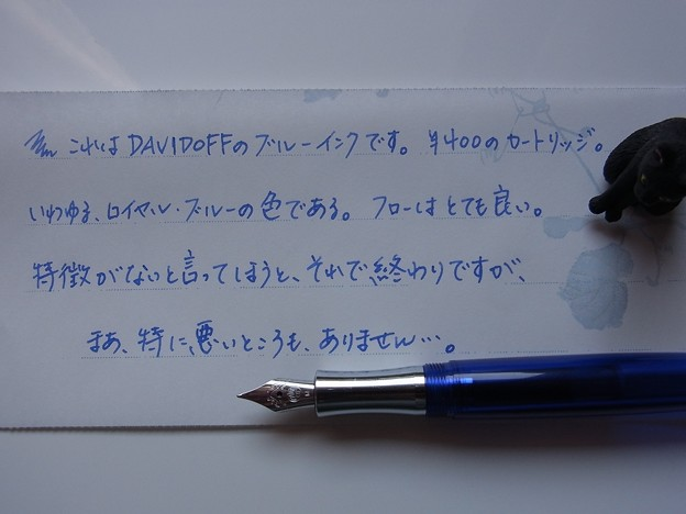 DAVIFOFF Blue Cartridge Ink handwriting #2