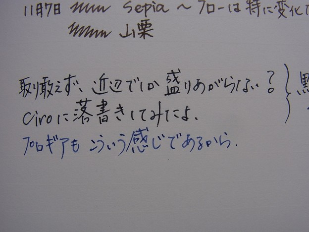 Kakimori Blend Ink - Planet & Montblanc Permanent Blue