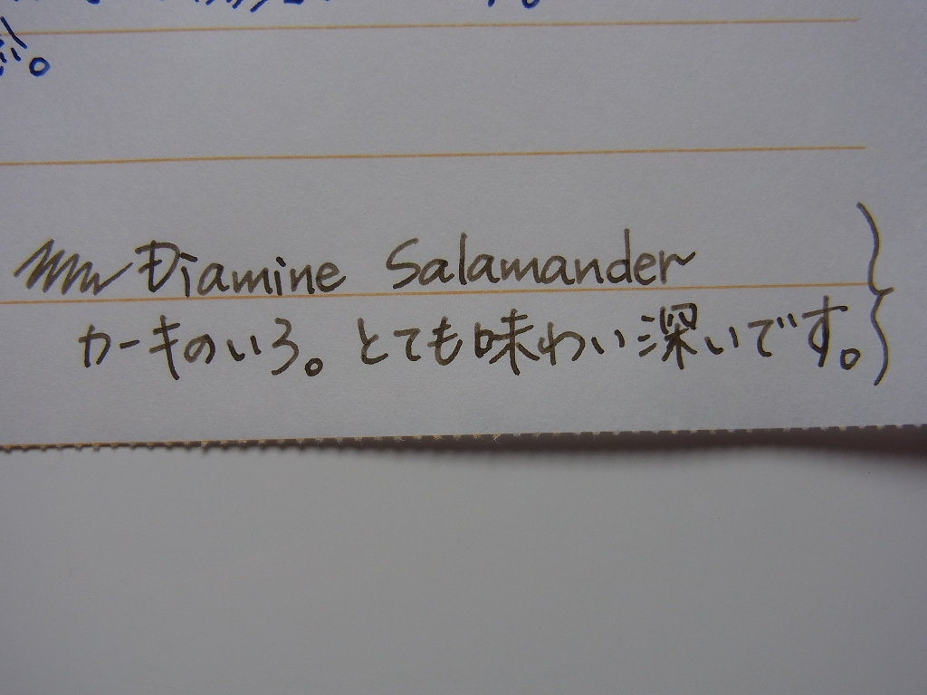Diamine Salamander handwriting 1