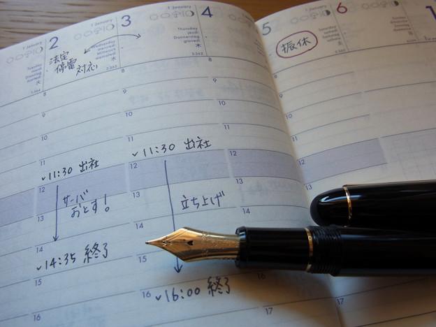 Platinum #3776 Century (M) & Midnight Blue & SOLA 2013 Diary
