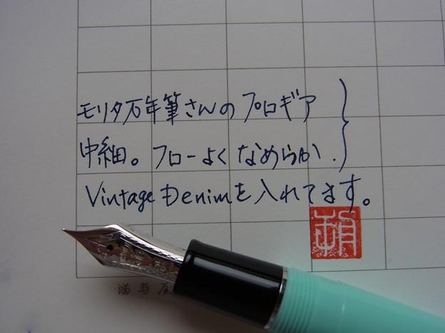 Sailor Professional Gear (Morita Fountain Pen Shop Original) handwriting