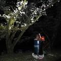 Photos: 花見の露天風呂! 燗銅壺でいっぱい