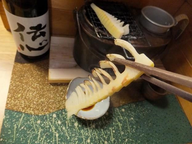 タケノコ焼く