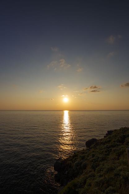 神威岬の夕日