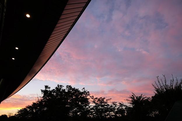 西武ドームの夕焼け
