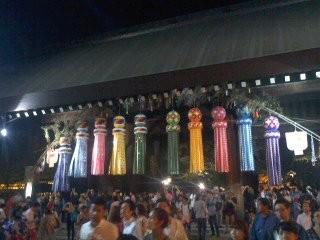 夜の神門(7月16日、靖国神社)