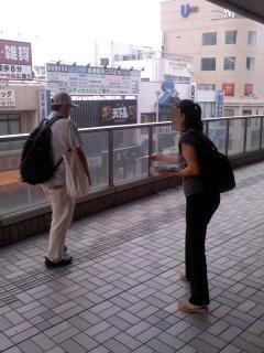 ありがたい応援(7月24日、大船駅)