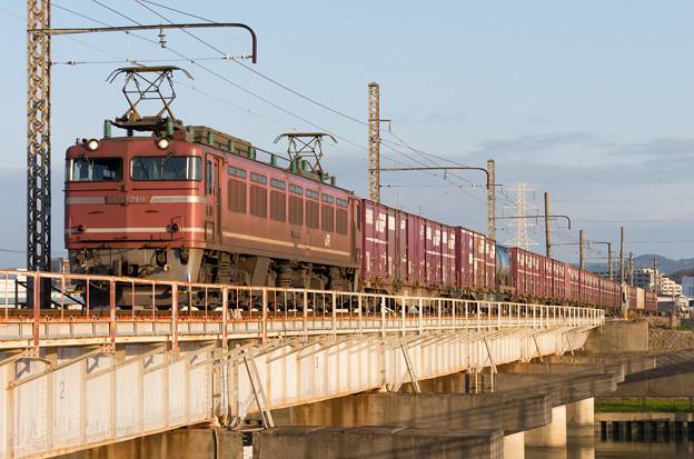 EF81 719【4070レ】 神崎川 ダイヤ改正前日(81運用最終)