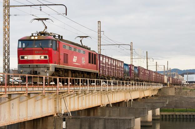 EF510-18【4070レ】 神崎川 ダイヤ改正当日