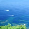 写真: 青い海 白い漁船2