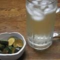 Photos: RIMG2864自作ご近所朝どりキュウリのQちゃんと焼酎お茶割り