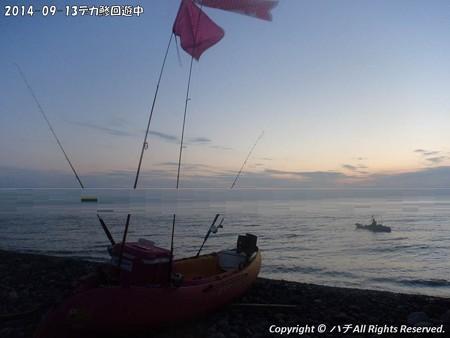2014-09-13デカ鯵回遊中 (2)