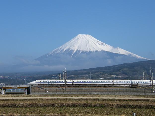 700系と富士山