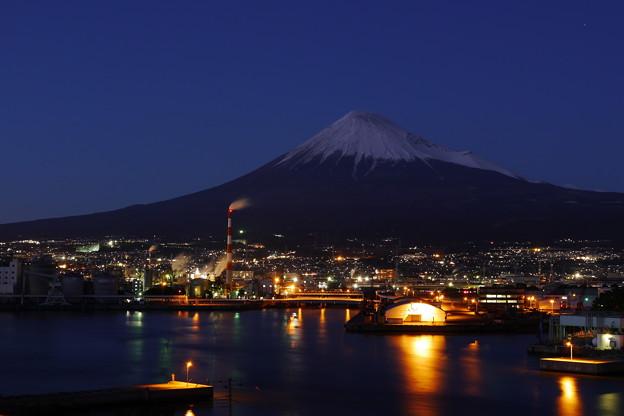 夜景富士山