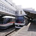 写真: あずさとしなの@松本駅