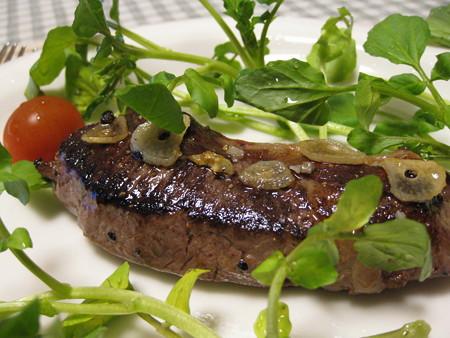 エゾシカロース肉のステーキ