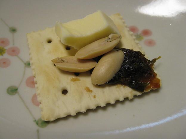 写真: ふき味噌&チーズ&ナッツ