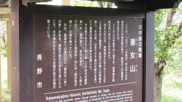 妻女山(赤坂・赤坂山。斎場山・祭場山。長野市松代町)妻女山展望台