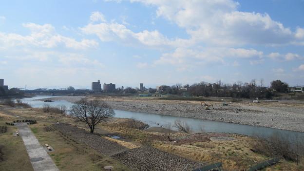 厩橋城(前橋城。群馬県)利根川