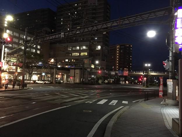 大津城(大津市)浜大津駅前交差点・二の丸北端