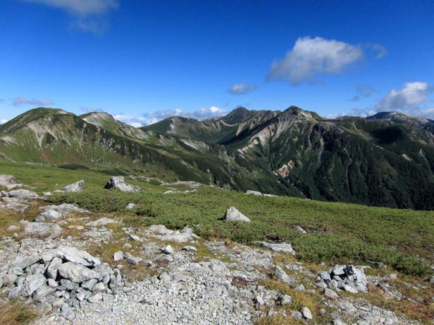 北アルプス最奥部の山々