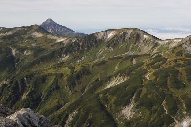 笠ヶ岳と双六岳