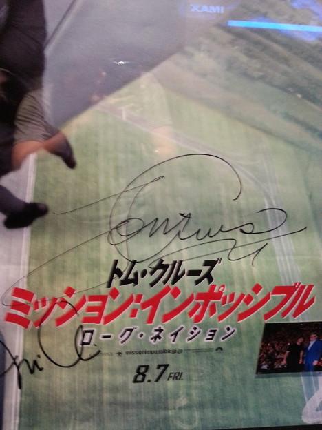 トム・クルーズ サイン入りポスターが♪
