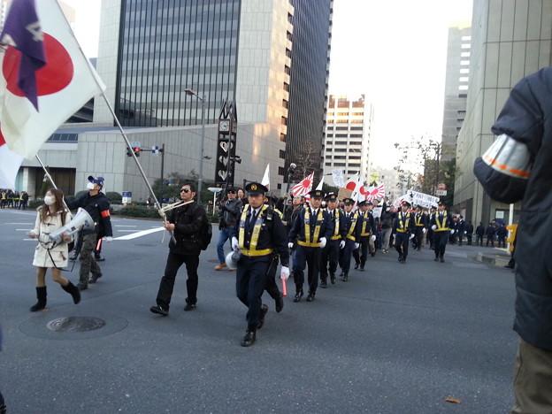 日比谷公園 デモ行進