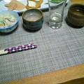 Photos: 肝心の蕎麦撮り忘れたけど美味しかった。日本酒5種類飲み比べ大会