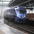 雨と特急列車