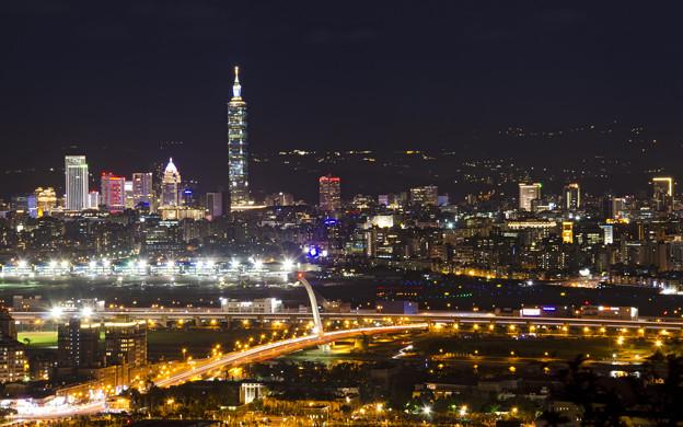 劍南山台北夜景