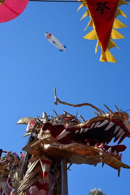 龍と飛行船
