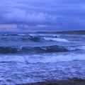 夏の日本海と荒波