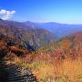 白山白川郷ホワイトロード 三方岩岳から 鳩谷ダム(遠くに)