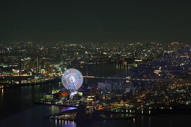 コスモタワーから 大阪の夜景と観覧車
