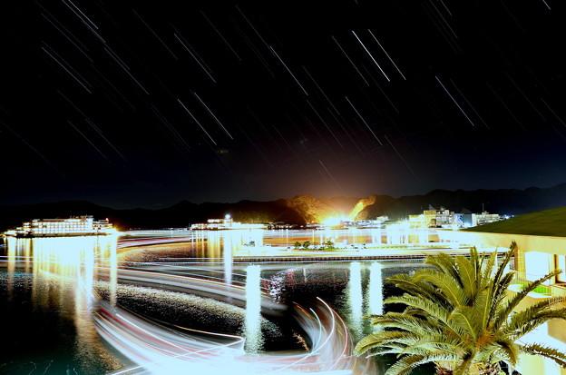 星と船の光跡