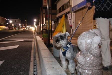 銀座通り石の忍者
