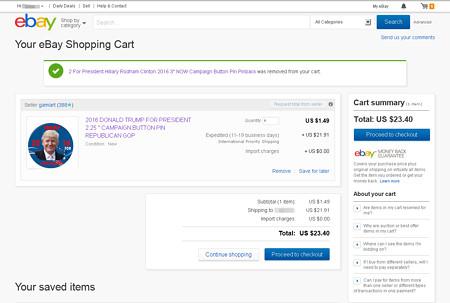 ebay画面