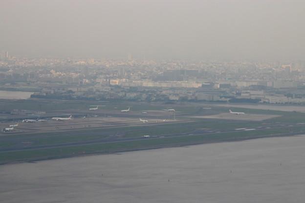 離陸直後、天気悪い