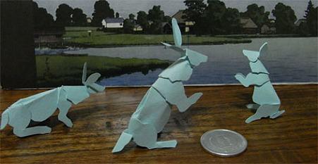ウサギ 切り折り紙