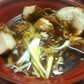 写真: 【今日の夜飯】岡山市某所の、美神亭 鶏清湯ラーメン(醤油)に、極厚鶏チャーシューのトッピング。