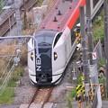 ふと下を見たら横須賀を走る成田エクスプレスE259系・・20140419