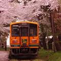 Photos: 出発した津軽21形走れメロス号・・20140501