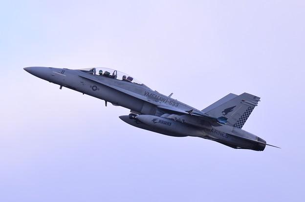 岩国基地へ帰投する VMFA(AW)-533hawks ED11 F/A-18Dホーネット 上がり・・20150117