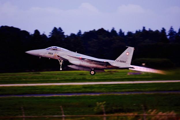 綺麗に出るアフターバーナー。。第305飛行隊梅組F-15テイクオフ。。9月14日