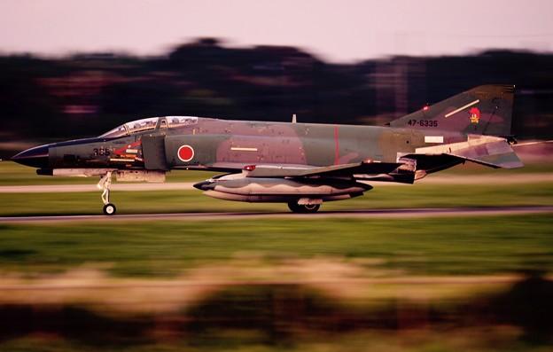 百里基地へ。。帰還 第501飛行隊RF-4。。9月14日