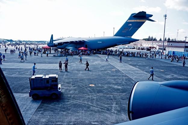 Photos: 米軍機KC-135ストラトタンカーから見る景色は。。笑(^^)